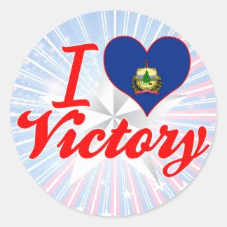 Eu amo a vitória, Vermont Adesivo Em Formato Redondo