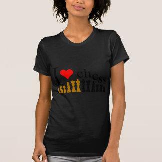 Eu amo a xadrez camisetas