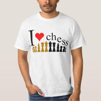 Eu amo a xadrez tshirts