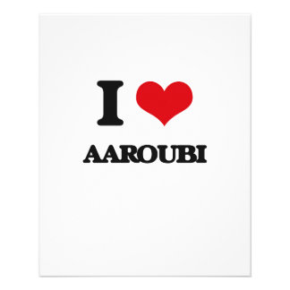 Eu amo AAROUBI Panfleto
