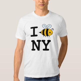 Eu amo abelhas na camisa de NY T-shirts