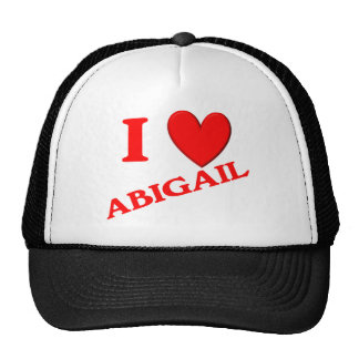 Eu amo Abigail Boné