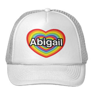 Eu amo Abigail, coração do arco-íris Bone
