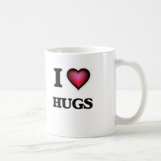 Eu amo abraços caneca de café