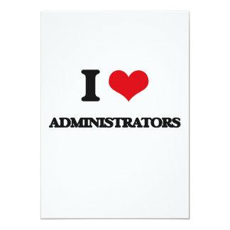 Eu amo administradores convite 12.7 x 17.78cm