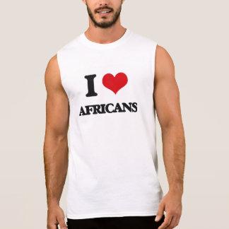 Eu amo africanos camisa sem manga