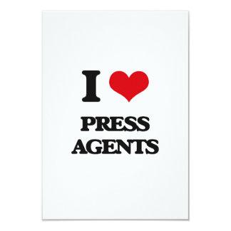 Eu amo agentes de imprensa convites personalizado
