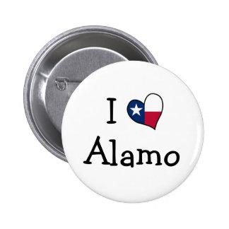 Eu amo Alamo Bóton Redondo 5.08cm