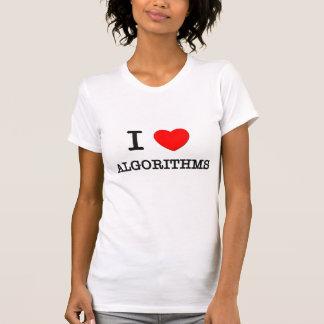 Eu amo algoritmos camiseta
