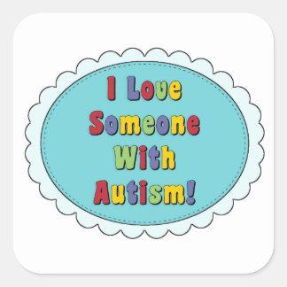 Eu amo alguém com etiquetas do autismo
