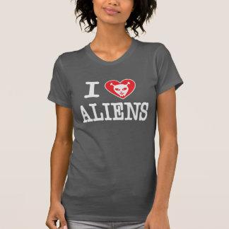 Eu amo aliens camiseta