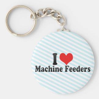 Eu amo alimentadores da máquina chaveiros
