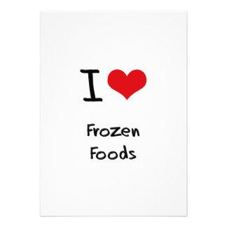Eu amo alimentos congelados convites