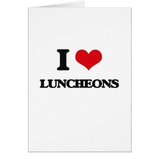 Eu amo almoços cartao