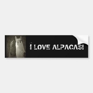 Eu amo alpacas! adesivo para carro