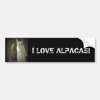 Eu amo alpacas! adesivo