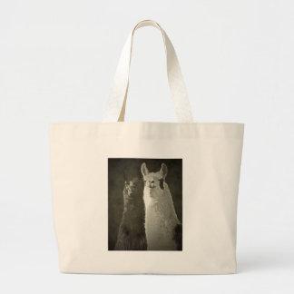 Eu amo alpacas! bolsa de lona