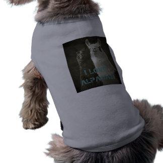Eu amo alpacas! camisa sem mangas para cachorro