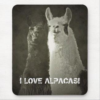 Eu amo alpacas! mouse pad
