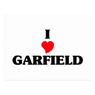 Eu amo alturas de Garfield Cartão Postal