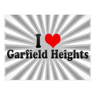 Eu amo alturas de Garfield os Estados Unidos Cartao Postal
