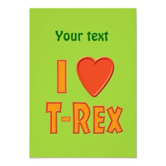 Eu amo amantes do dinossauro de Rex do Convites Personalizado