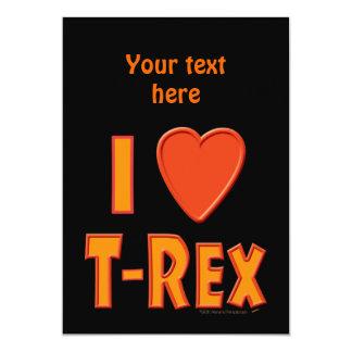 Eu amo amantes do dinossauro de Rex do Convite Personalizado