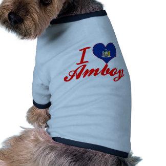 Eu amo Amboy, New York Camisas Para Caes