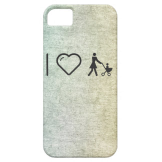 Eu amo amores maternais capa barely there para iPhone 5