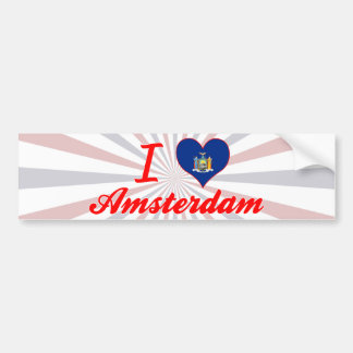 Eu amo Amsterdão, New York Adesivo Para Carro