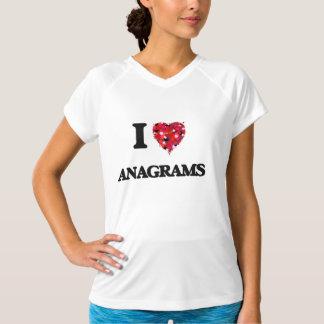 Eu amo anagramas camiseta