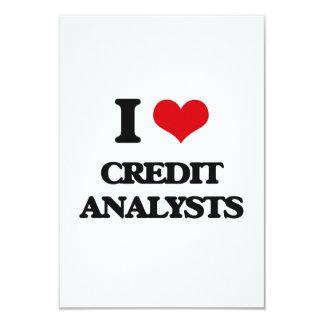 Eu amo analistas de crédito convites personalizados