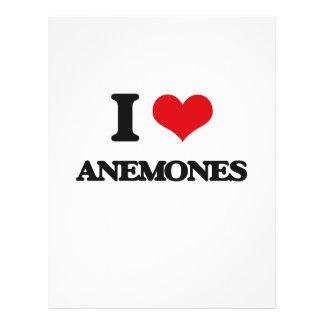 Eu amo anêmonas panfleto personalizado