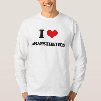 Eu amo anestésicos camiseta