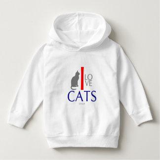Eu amo animais dos gatos por VIMAGO Moletom