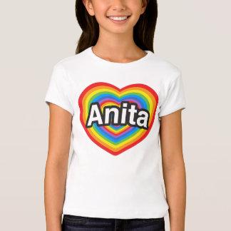 Eu amo Anita. Eu te amo Anita. Coração Camiseta