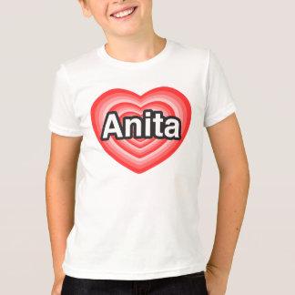 Eu amo Anita. Eu te amo Anita. Coração Camisetas