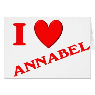 Eu amo Annabel Cartões