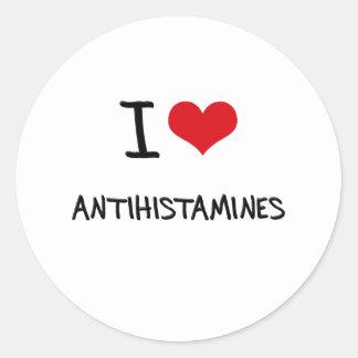 Eu amo antistamínicos adesivos redondos