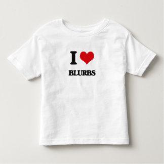 Eu amo anúncios camisetas