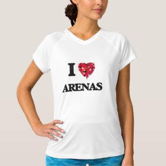 Eu amo arenas camisetas