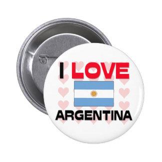 Eu amo Argentina Boton