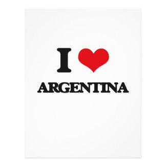 Eu amo Argentina Modelo De Panfleto
