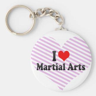 Eu amo artes marciais chaveiro