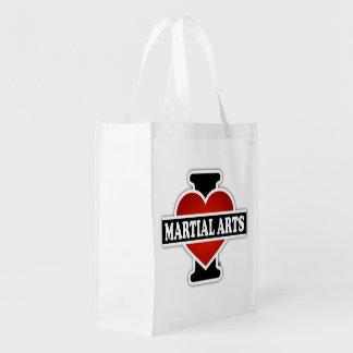 Eu amo artes marciais sacolas ecológicas