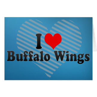 Eu amo as asas de frango fritas cartão