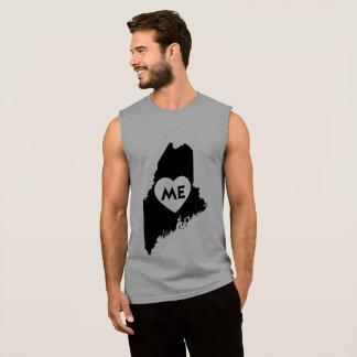 Eu amo as camisas dos homens do estado de Maine