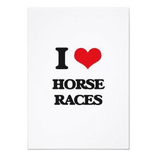 Eu amo as corridas de cavalos convite 12.7 x 17.78cm