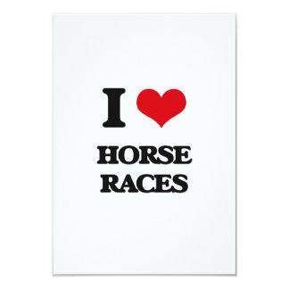 Eu amo as corridas de cavalos convite 8.89 x 12.7cm