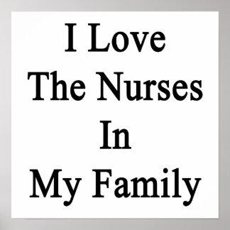 Eu amo as enfermeiras em minha família poster